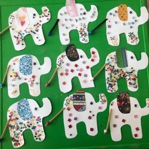 slon k učení se o Indii